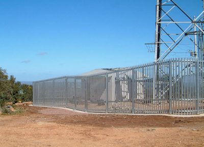 palisade gates and fencing Transgrid Radio